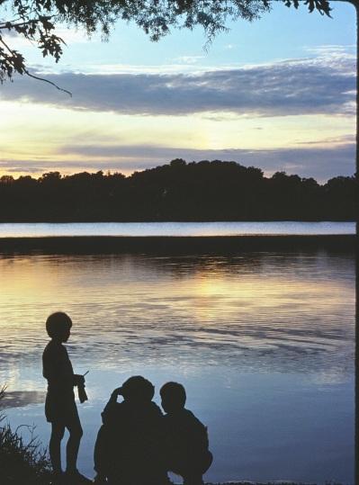 Silhouetes at Spy Pond