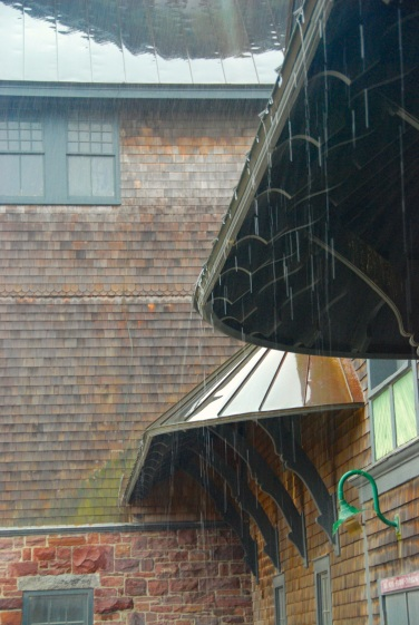 Rain on the Farm Barn